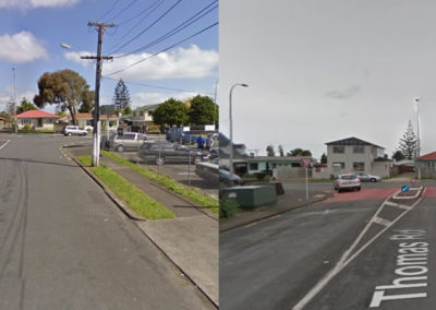 Intersection of Thomas Road and Massey Road